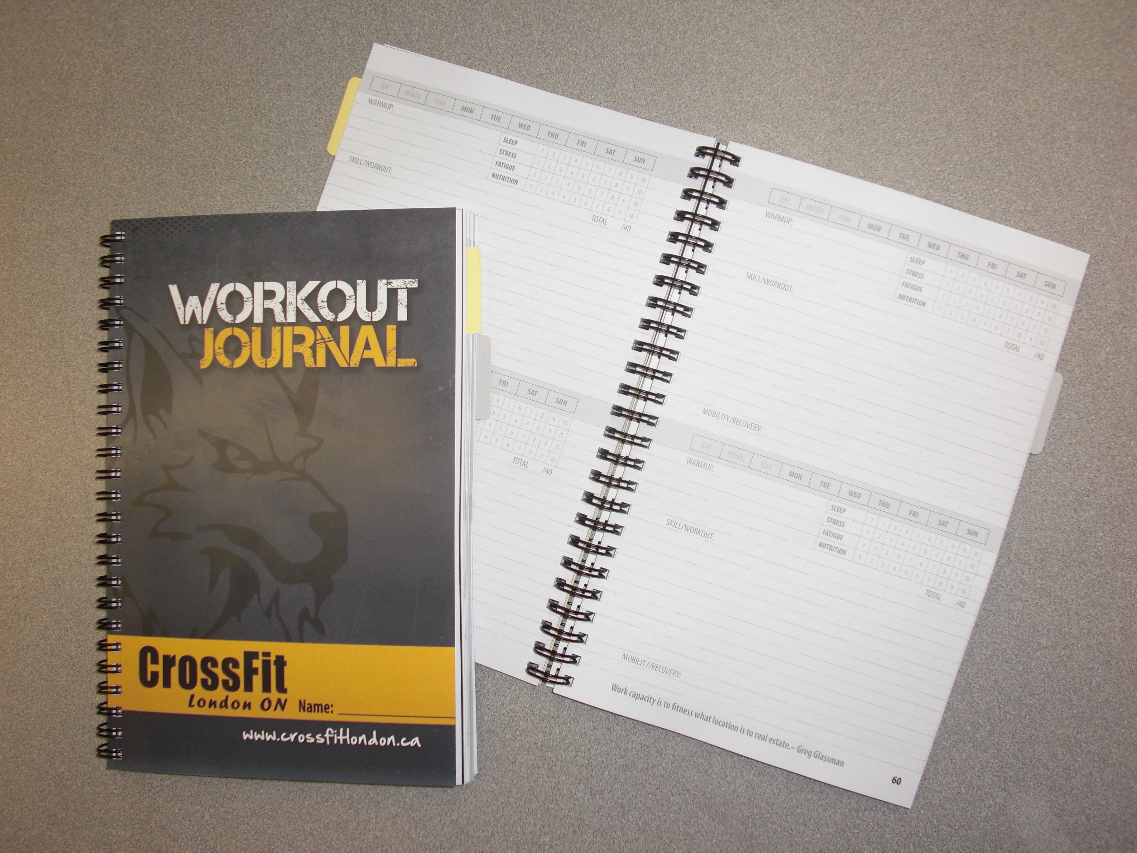 Keeping a wod journal mandomacias for Wod journal template
